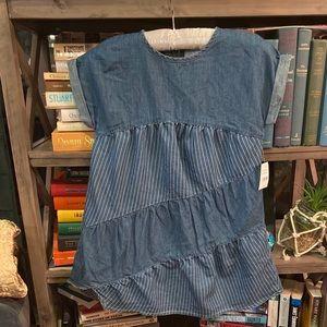 BCBG Girls Chambray soft denim dress BCBGirls Sz 6